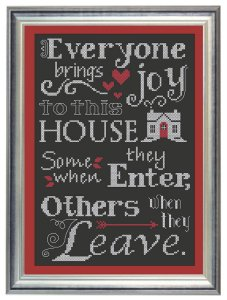 Everyone brings joy framed