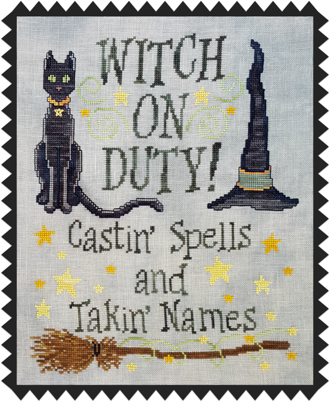 witch on duty pic black zig border
