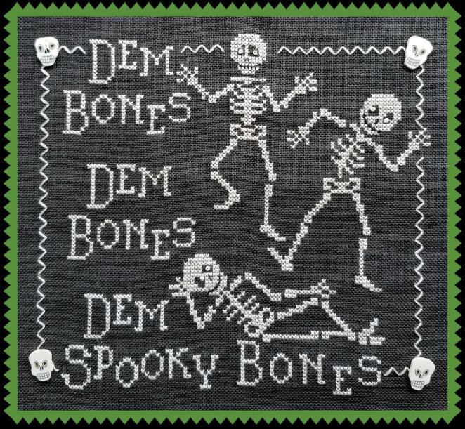Dem Bones pic green border